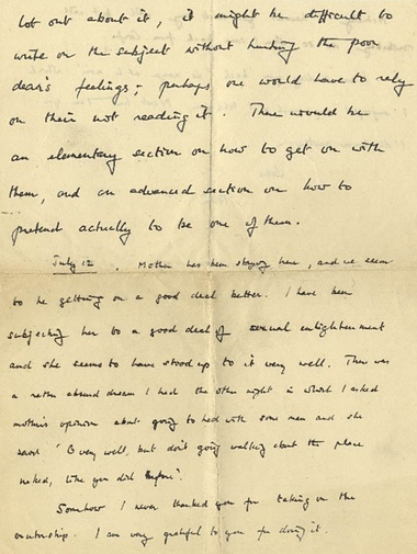 This is one of the letters from Turing to his friend.