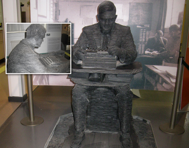 Turing's Statue at Bletchley Park